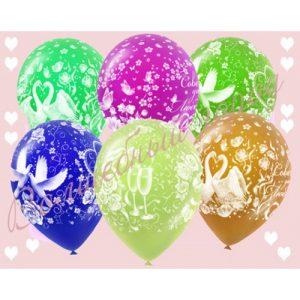 шарики с гелием свадьба