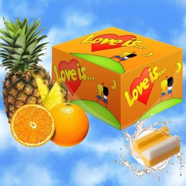 Жевательная резинка «Love is» апельсин-ананас 100 шт.