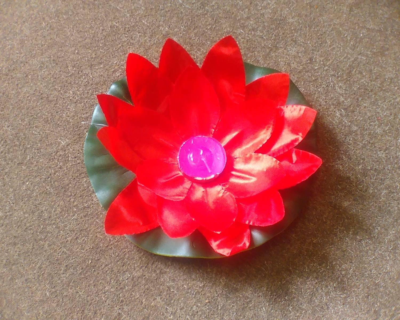Плавающий фонарик «Лотос» красный