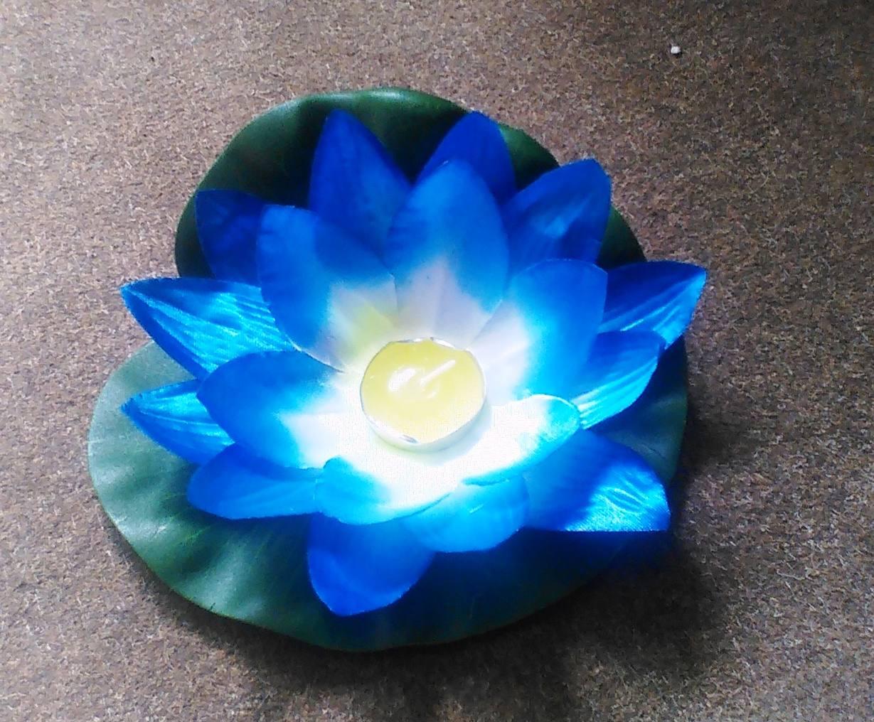 Водный фонарик синий