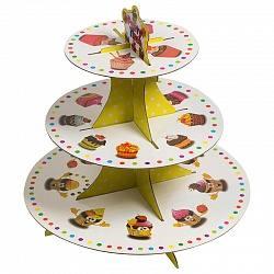 стойка для десертов, пирожные