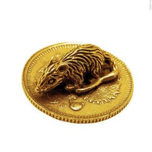 мышка на монетке