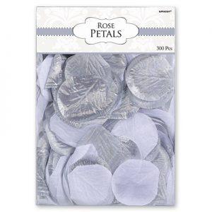 Лепестки роз серебро
