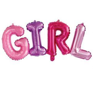 шарик на рождение девочки