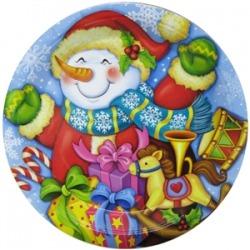тарелка снеговик