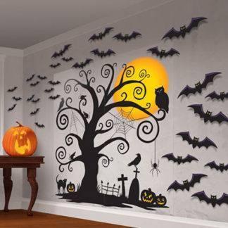 Баннеры, декорации, наклейки для Хеллоуина