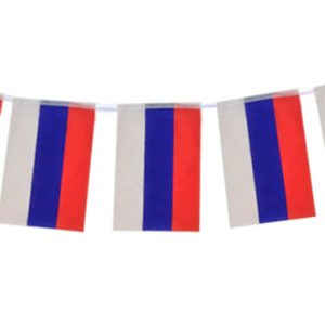 Garland of flags on bright background