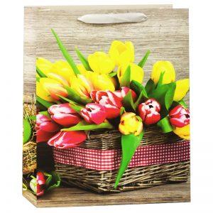 Пакет подарочный Весенний 18*23*10см