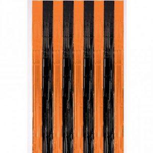 Занавес черно-оранжевый