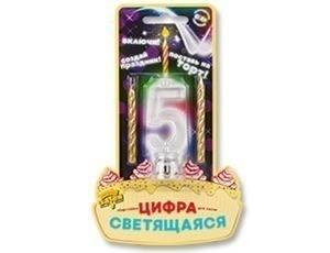 Цифра LED для торта +2 свечки
