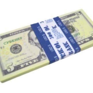 Имитация пачки денег-5$