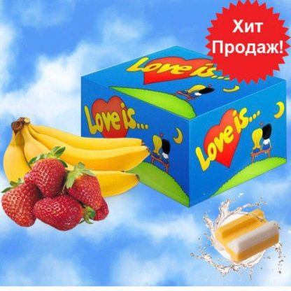 "Жевательная резинка ""Love is"" Клубника-Банан 100 шт"