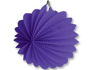 Фонарик бумажный круглый фиолетовый 25см