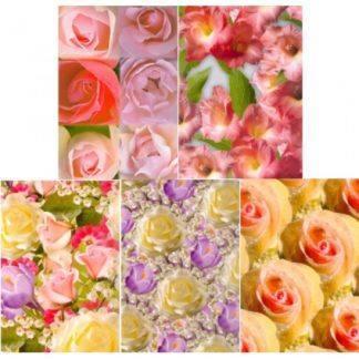"""Бумага упаковочная """"Цветы"""", асс 100Х70, 10 шт"""