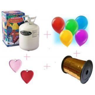 Гелий 3 литра + 30 шариков, ленточка, грузик