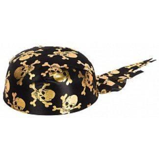 Бандана с черепами (золото)