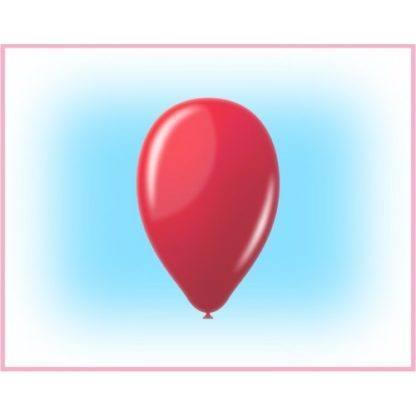 """Воздушный шарик 12"""" красный 10 штук"""