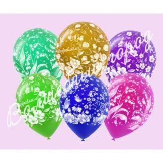 """Воздушный шарик """"Поздравляем"""" 50 шт"""