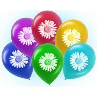 """Воздушный шарик """"Ромашки"""" 50 штук"""