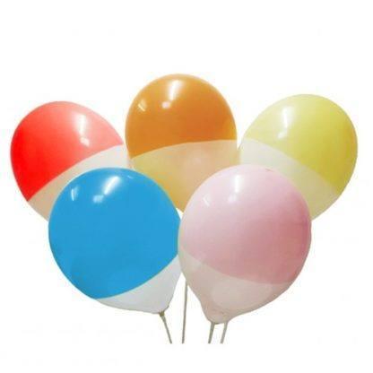 Воздушные шарики 2-ух цветные, 10 шт.
