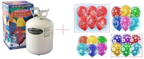 Набор №4 Гелий 3 литра +20 шариков с рисунком