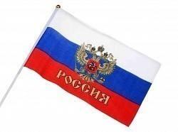 Флаг Россия (с гербом) 15х20см