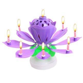 Свеча-лилия фиолетовая, крутящаяся