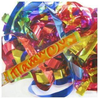 Пневмохлопушка фольгированное конфетти, 60см