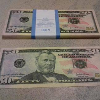 Купюра-прикол 50$ Пачка