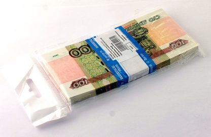 Пачка Купюр прикол 100 рублей