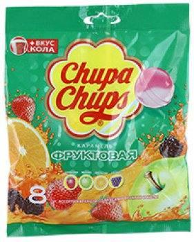 Карамель Chupa Chups фруктовый микс, 8шт (96г)