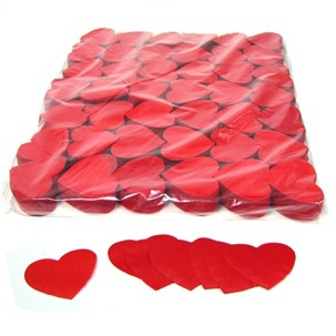 "Бумажное конфетти ""Сердечки"", 60гр. 5см"