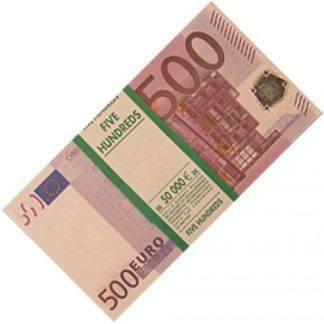 Пачка купюр прикол 500 Евро