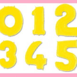 Фольгированный шар Цифра Ярко желтая 0-5, 102 см