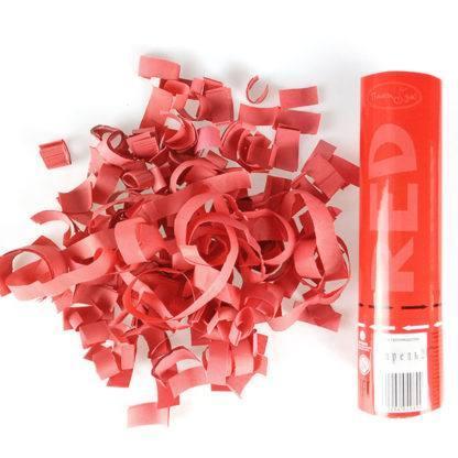 Пневмохлопушка Красное конфетти, 20 см