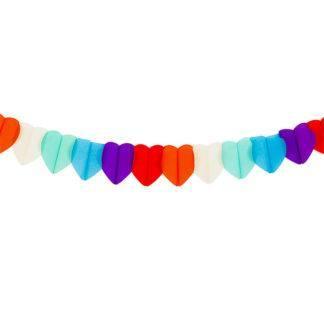 Гирлянда Разноцветные сердца, 250см
