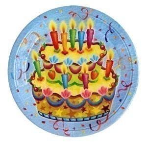 Тарелки Праздничный торт 23см, 6шт