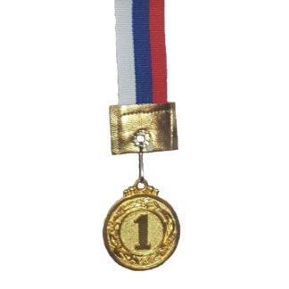 Медаль 1 место золото d-20 штамповка