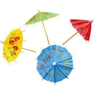 Шпажки для канапе деревянные Зонтик, 12шт