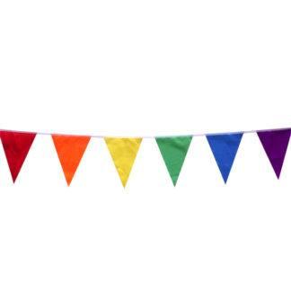 Праздничная гирлянда Разноцветная, флажки 5метров