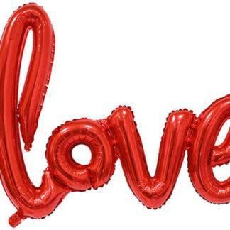 """Фольгированный шар, """"Love"""", 64см Красный"""