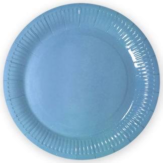 Тарелки однотонные голубые, 12 шт