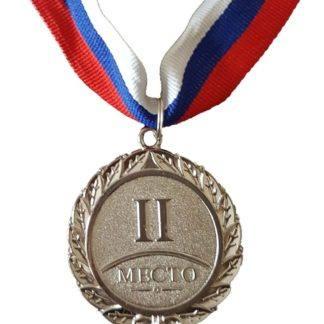 Медаль спортивная 2 место, d50