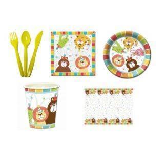 Набор праздничной посуды Зоопарк на 6 персон