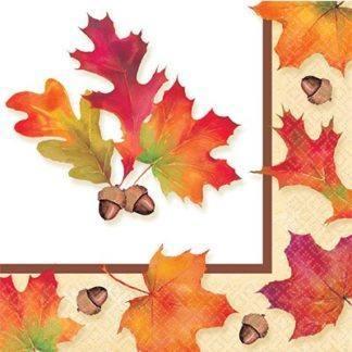 Салфетки Осенние листья, 16 штук