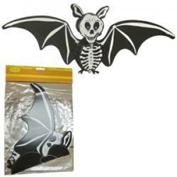 Бумажное украшение подвеска Летучая мышь