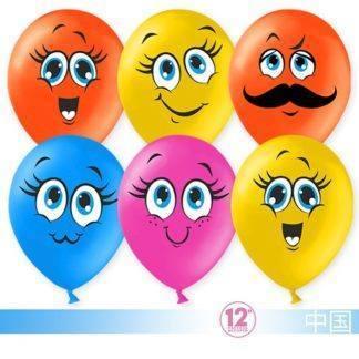 Воздушные шарики Милые смайлы, 50 штук