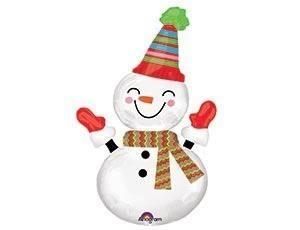 Фольгированный шар Снеговик улыбчивый, 63 см
