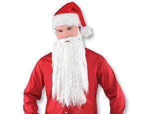 Борода Санта Клауса 40см