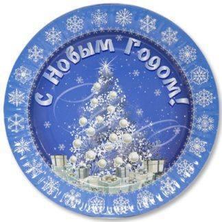 Тарелка бум С НГ Зимняя Сказка 17см 6шт